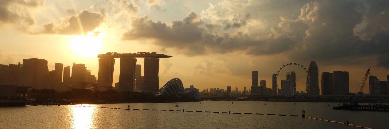 シンガポール 夕焼け マリーナベイサンズ