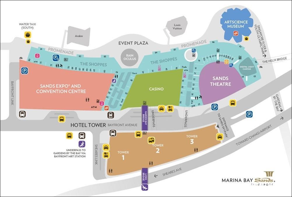 マリーナベイサンズホテル マップ 地図