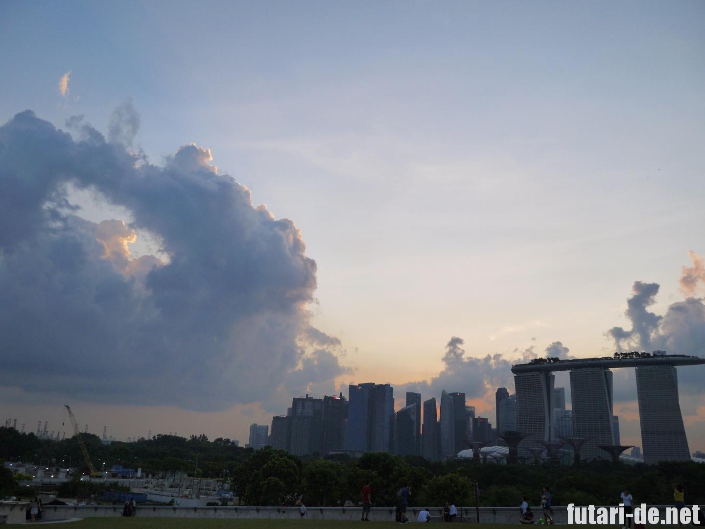 マリーナバレッジ シンガポール 夕焼け
