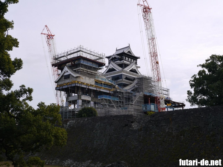 熊本県 熊本城 復興見学ルート 加藤神社