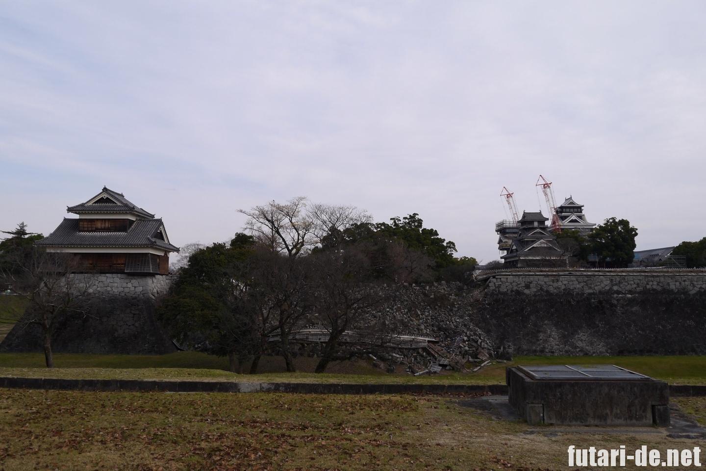 熊本県 熊本城 復興見学ルート 戌亥櫓 天守閣