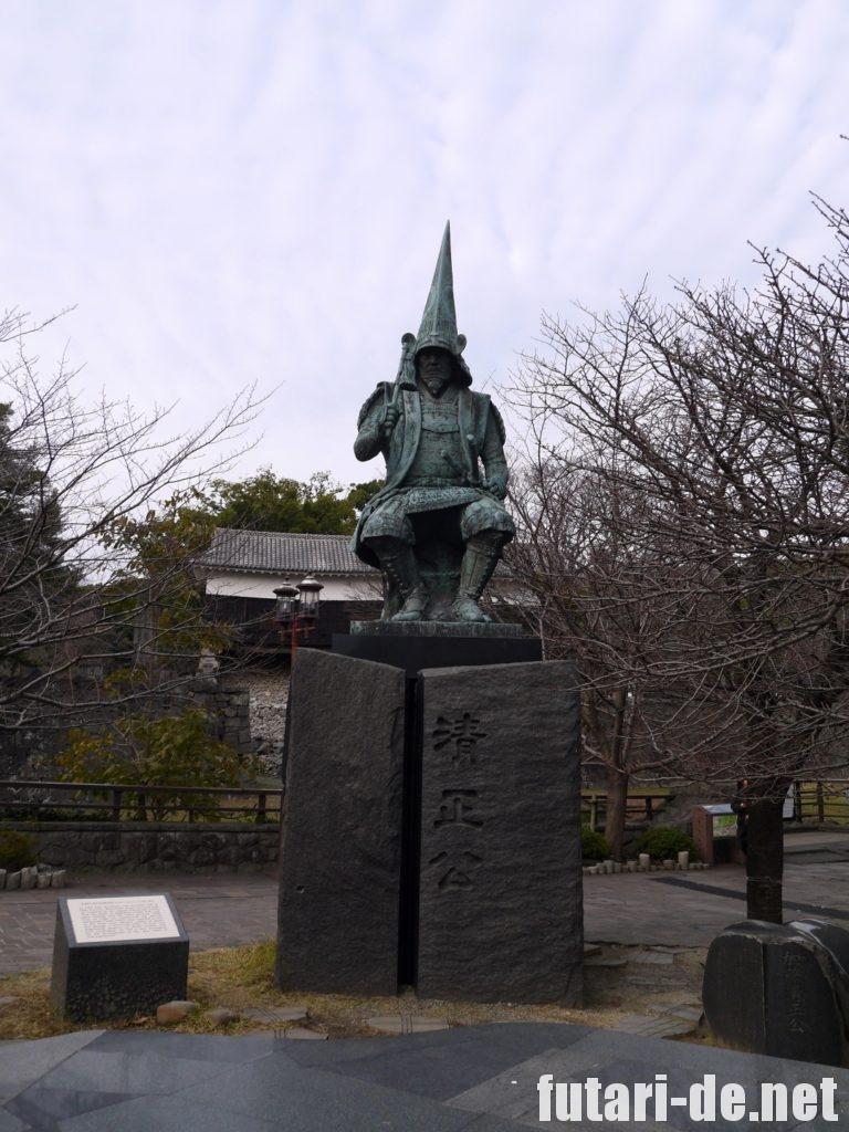 熊本県 熊本城 復興見学ルート 加藤清正 清正公像