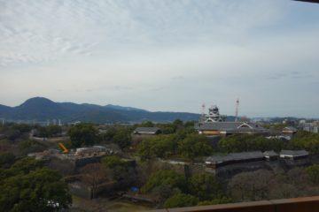 熊本県 熊本市役所 14階 展望ロビー 熊本城