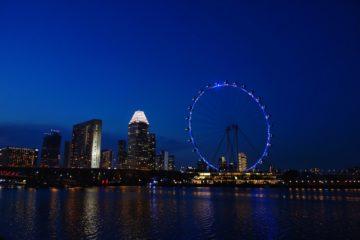 シンガポール 夜景 シンガポールフライヤー