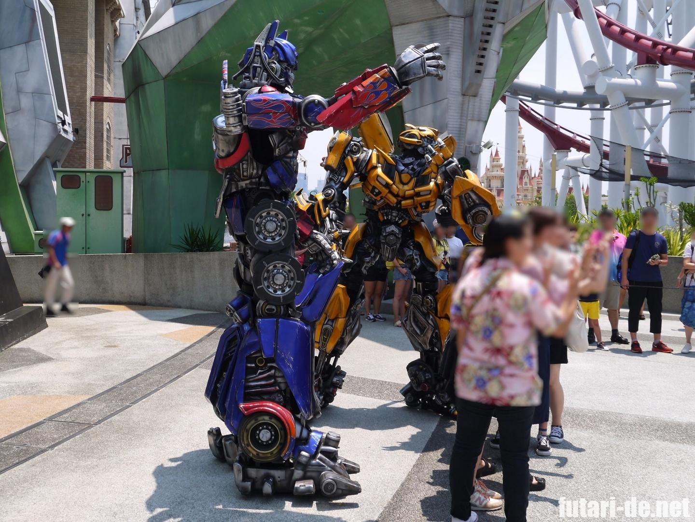 ユニバーサル・スタジオ・シンガポール セントーサ島 Sci-Fi city トランスフォーマー