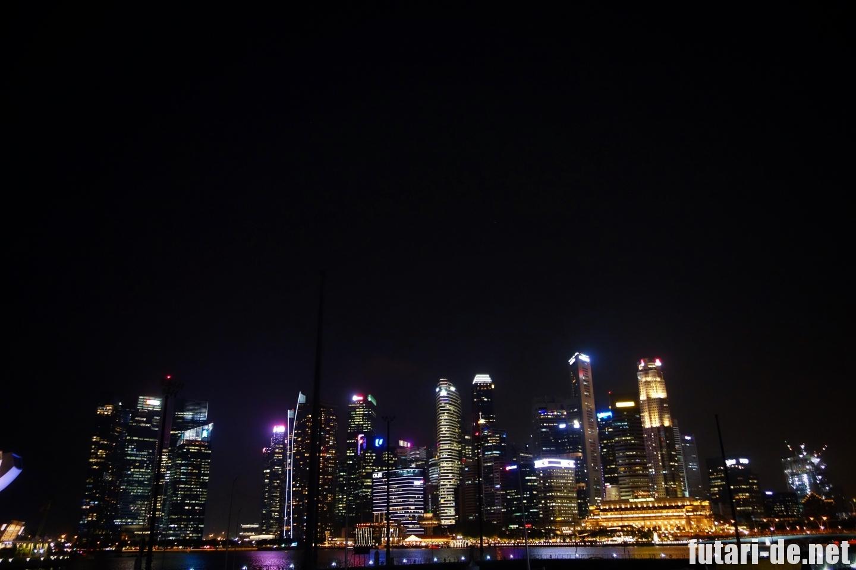 シンガポール マリーナ 夜景