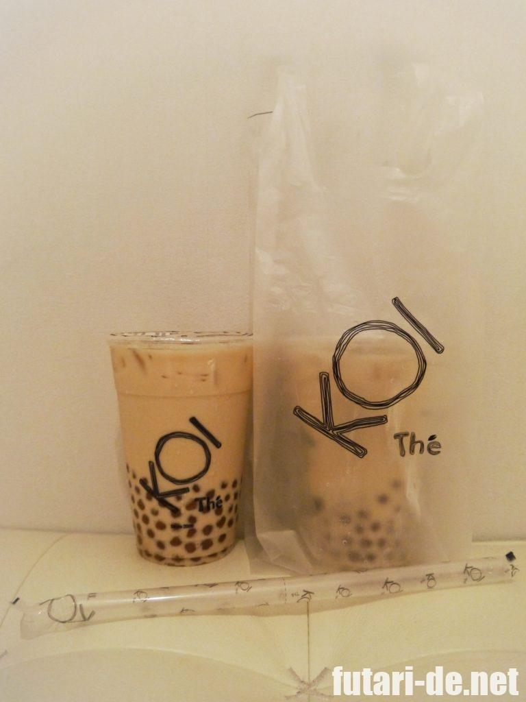 シンガポール KOI Cafe タピオカミルクティー メニュー