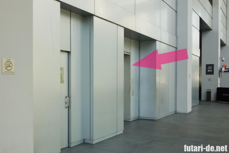 シンガポール マリーナベイサンズ エレベーター ガーデンズバイザベイ