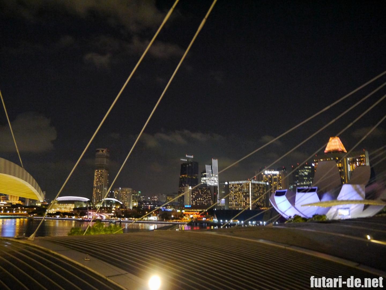 シンガポール マリーナベイサンズ マリーナ 夜景