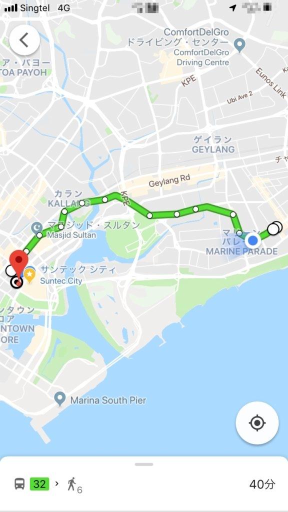 シンガポール カトン 路線バス Roxy Sq イーストコーストロード