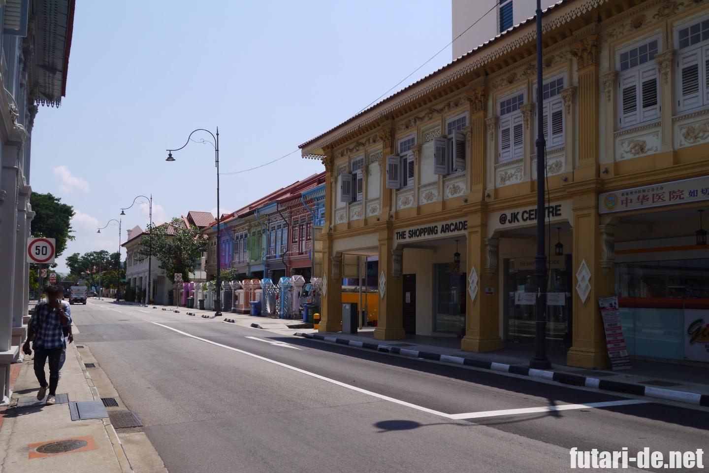 シンガポール カトン 市内バス 家カラフル プラナカン建築