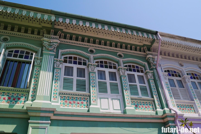 シンガポール カトン 家カラフル プラナカン建築
