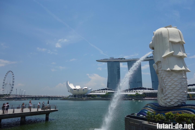 シンガポール マリーナ マーライオン公園