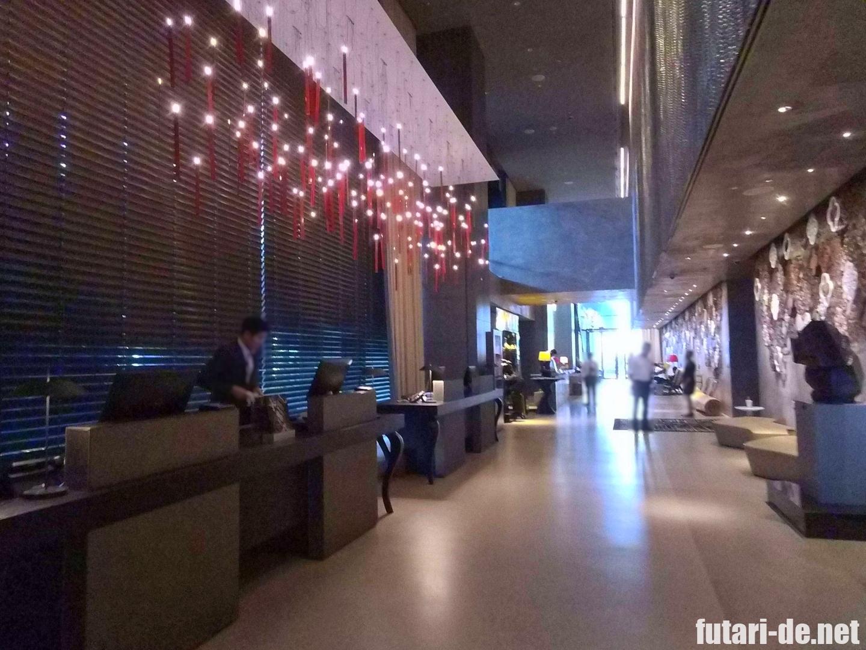 シンガポール JWマリオット・ホテル・シンガポール・サウスビーチ レセプション