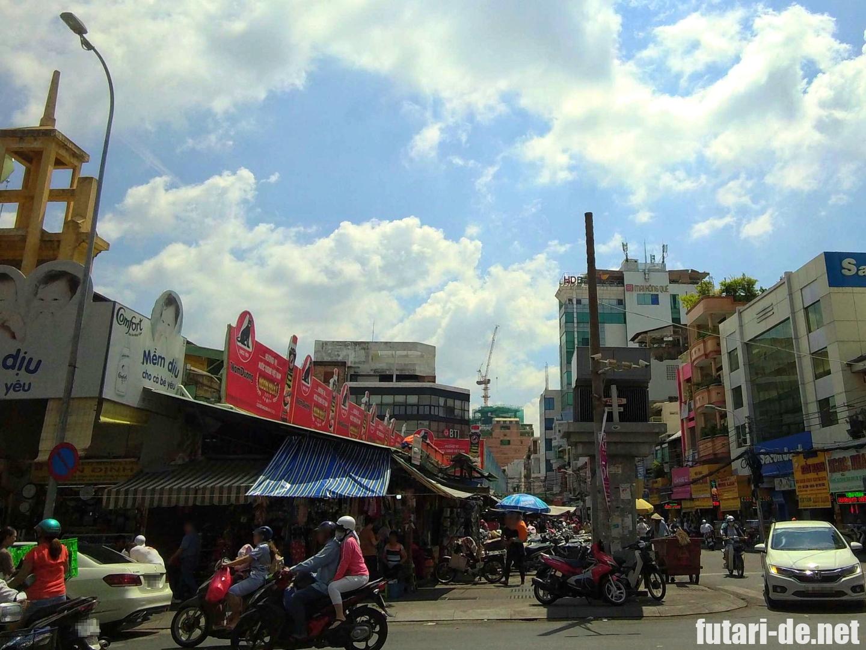 ベトナム ホーチミン タンディン教会 タンディン市場