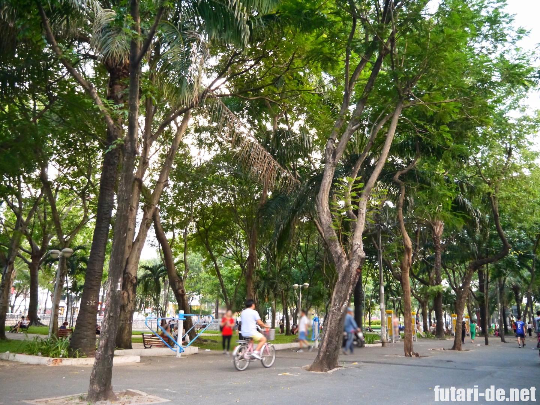 ベトナム ホーチミン 9月23日公園 バインミー Huynh Hoa フィンホア