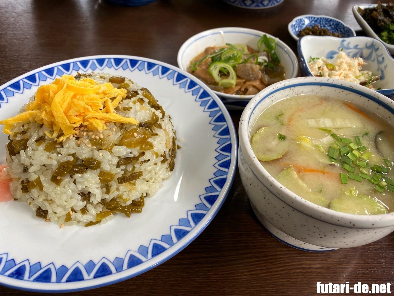 熊本県 阿蘇市 あそ路 元祖たかなめし たかなめし定食