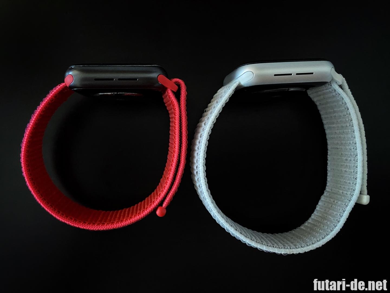 AppleWatch ベルト スポーツループ 純正品 サードパーティ 比較