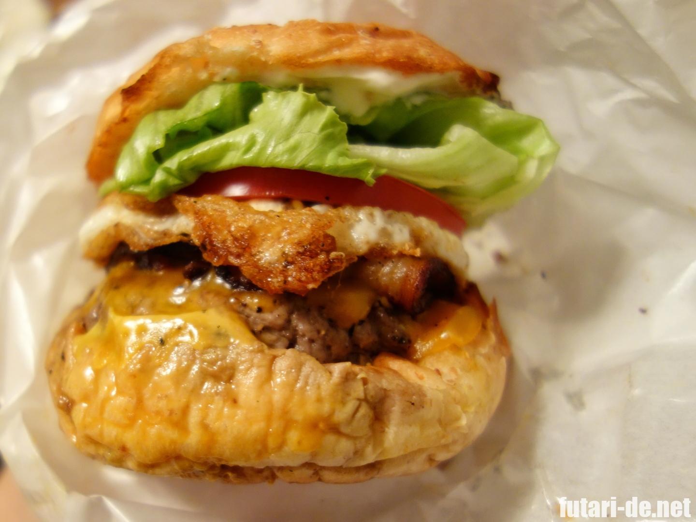 東京 三田 芝公園 MUNCH'S BURGER SHACK マンチズバーガー・シャック ベーコンエッグチーズバーガー